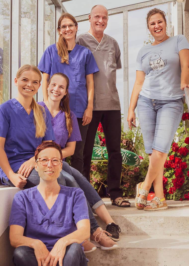 Team der Praxis von Tierärztin Patricia Mayerhauser